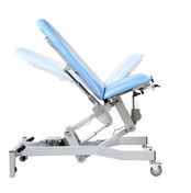Fusion GYNAE 3 Couch, 2 Section Electric. Powered Back, Powered Tilting Seat, complete with Arm Supports and Leg Stirrups