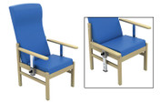 Buy Atlas Patient Mid-Back Arm Chair in Vinyl (Multibuy) (SUN-CHA50DA/VYL/Colour) sold by eSuppliesMedical.co.uk