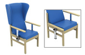 Buy Atlas Patient High-Back Arm Chair with Wings and Drop Arms in Vinyl (Multibuy) (SUN-CHA52DA/VYL/Colour) sold by eSuppliesMedical.co.uk