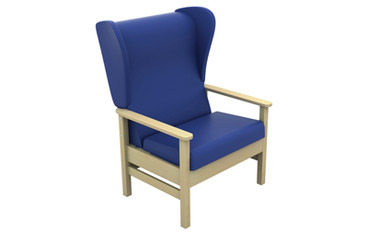 Buy Atlas High-Back Bariatric Arm Chair with Wings in Intervene (Multibuy) (SUN-CHA56/IV/Colour) sold by eSuppliesMedical.co.uk