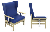 Buy Atlas High-Back Bariatric Arm Chair with Wings and Drop-Arms in Vinyl (Multibuy) (SUN-CHA56DA/VYL/Colour) sold by eSuppliesMedical.co.uk