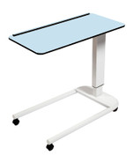 Buy Astro Over Bed Table, Parallel Base, Compact Grade Laminate Top with 1 Lip, Blue Colour (SUN-OBT3P/CM/1L/BLUE) sold by eSuppliesMedical.co.uk