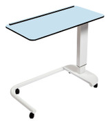Buy Astro Over Bed Table, C-Shaped Base, Compact Grade laminate Top with 1 Lip, Blue Colour (SUN-OBT3C/CM/1L/BLUE) sold by eSuppliesMedical.co.uk