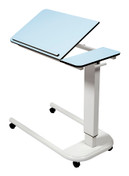 Buy Astro Over Bed Table, Parallel Base, Tilting Compact Grade Laminate Top with 1 Lip, Blue Colour (SUN-OBT4P/CM/1LT/BLUE) sold by eSuppliesMedical.co.uk