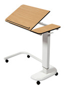 Buy Astro Over Bed Table, C-Shaped Base, Tilting Compact Grade laminate Top with 1 Lip, Beech Colour (SUN-OBT4C/CM/1LT/BEECH) sold by eSuppliesMedical.co.uk
