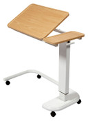 Buy Astro Over Bed Table, C-Shaped Base, Recessed Tilting High Impact PVC Top, Beech Colour (SUN-OBT6C/VW/T/BEECH) sold by eSuppliesMedical.co.uk