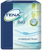 Buy Tena Super Incontinence Bed Underpads, 60 x 60cm, 30 Pads (770202) sold by eSuppliesMedical.co.uk