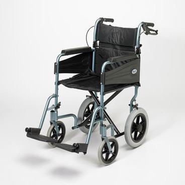"Buy Escape Lite Wheelchair, Silver Blue, Seat Width 46cm/18"" (Lightweight 12kg) (91171727_) sold by eSuppliesMedical.co.uk"