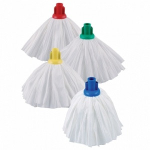 Buy CQC Colour Coded Mop Hygiene Heads, 4 Colours Available, Each (CD0130) sold by eSuppliesMedical.co.uk