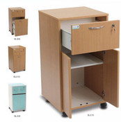 Buy Melamine Bedside Locker One Top Drawer, Lower Cupboard - Beech Effect (BL015) sold by eSuppliesMedical.co.uk