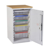 Buy Drug Medicine Storage Unit - 867Mm High - R/H Door - Eurolock C/W Plastic Trays (BU035) sold by eSuppliesMedical.co.uk