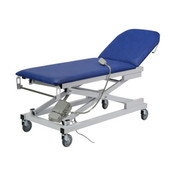 Buy Variable Height Couch Two Section Electric (Foot Switch) Bristol Blue (EC020/VBB) sold by eSuppliesMedical.co.uk