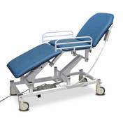 Buy Couch - Variable Height - Three Section Mobile - Electric - Handswitch - Vinyl - Bristol Blue (EC1335/VBB) sold by eSuppliesMedical.co.uk
