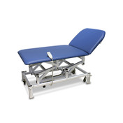 Buy Couch - Bariatric - Variable Height - Two Section - Electric - Handswitch - Vinyl - Bristol Blue (EC2205/VBB) sold by eSuppliesMedical.co.uk