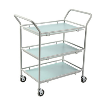 General Purpose Trolley - Mild Steel, Two Laminate Shelves, Small
