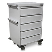 Buy Storage Trolley 5 Equal Drawers (MW010) sold by eSuppliesMedical.co.uk