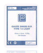 Buy Non Sterile Gauze Swabs 12 Ply 10 x 10 cm White, Pack of 100 (PM1675) sold by eSuppliesMedical.co.uk