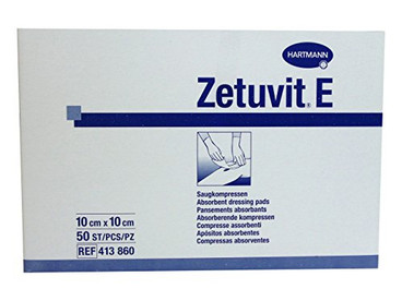 Zetuvit E Dressing Pad, Non-Sterile, 10 x 10cm, x 50. (328-6085)