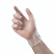 Sempercare Clear Vinyl Examination Gloves, Powder Free, Small, Box of 100