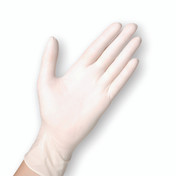 Sempercare Latex Examination Gloves, Powder Free, Large, Box of 100