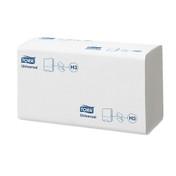 Tork Universal Singlefold Hand Towels, White, 1ply, Pack of 4500