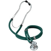 W3561 - Twin Tube Sprague Rappaport Stethoscope, Grey (image Green)