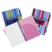 Pukka Pad A4 Project Book Wirebound Plastic Ruled 5-Divider