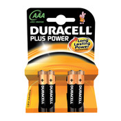 Duracell Plus Power AAA Batteries, Pack of 4