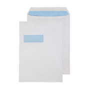 Office Envelopes C4 Self Seal White 90gsm, Pack of 250