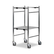 Bristol Maid Stainless Steel Dressing Trolley, 2 Shelves