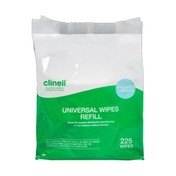 Clinell Universal Wipe Refill Pack, x 225 Wipes