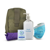 Stay Safe PPE Kit Individual in Sandstone Pouch