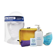 Stay Safe PPE Kit Retail workers with Face Shield