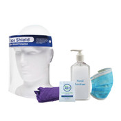 Stay Safe PPE Retail Refill Kit with Face shield
