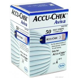 Accuchek Aviva Blood Glucose Test Strips 317-1253 50