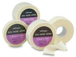 Buy Zinc Oxide Plaster Tape, 1.25cm x 5m, x 1 rolls (MORel613mb) sold by eSuppliesMedical.co.uk