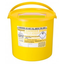 Buy Sharpsguard Sharps Bin, 11.5 litres, Yellow Lid (DNDD476YL) sold by eSuppliesMedical.co.uk