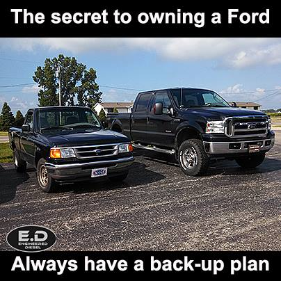 Engineered Diesel meme Ford back-up plan