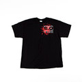 Engineered Diesel T-Shirt  - Red Splatter on Black