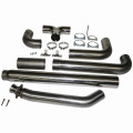 Cummins Exhaust - Turbo Back, Duals, 5in. 409 Stainless.