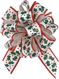 Christmas Holly Pull Bows for stuffing balloon GIAB