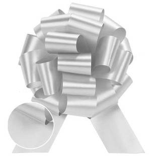 White Perfect Pull Bows GIAB a classy way to wrap ypur gift in a balloon