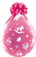 "Qualatex 18"" Stuffing Balloon, BABY'S NURSERY"