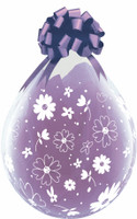 DAISIES & DOTS A ROUND Qualatex 18 inch Stuffing balloon
