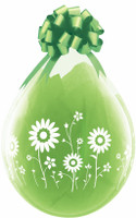 "Qualatex 18"" Stuffing Balloon, FLOWER GARDEN"