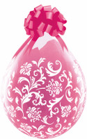 "Qualatex 18"" Stuffing Balloon, DAMASK PRINT"