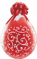 "Qualatex 18"" Stuffing Balloon, FILIGREE & HEARTS A-ROUND"