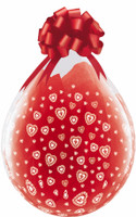"Qualatex 18"" Stuffing Balloon, LACE HEARTS A-ROUND"