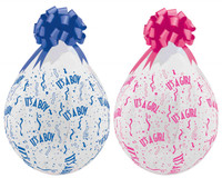 It's a Boy It's a Girl Stuffing balloon Keepsake Stuffer Balloon stuffer Stuffing machine a classy way to wrap your gift in a balloon, a 18 inch Qualatex stuffing balloon