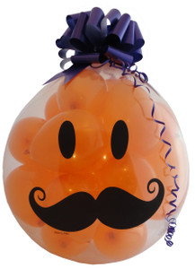 MUSTACHE HAPPY FACE Qualatex 18 inch Stuffing balloon